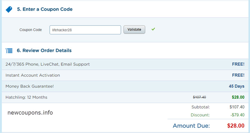 hostgator-how use a coupon-step 2