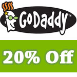 Godaddy Promo Code get 20% off renewal or new orders
