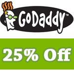 Godaddy 25% off –  including Domains, SSL, Hosting and more!