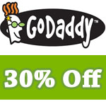 Godaddy Coupon 30% off – Includes renewal domain hosting