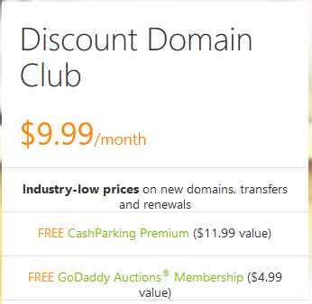 Godaddy discount domain club coupon