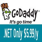 GoDaddy .Net Coupon for only $8.99 in April 2018