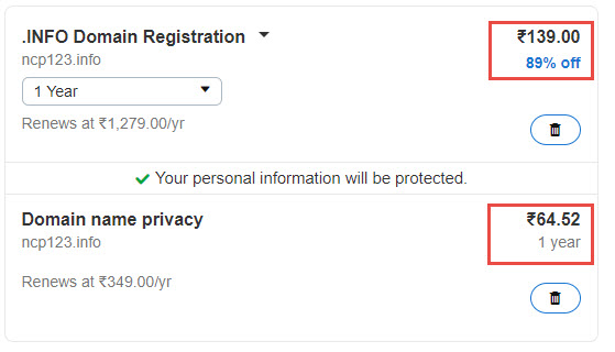 GoDaddy .Info Coupon for September 2018: $0.99/Year+$1 Privacy