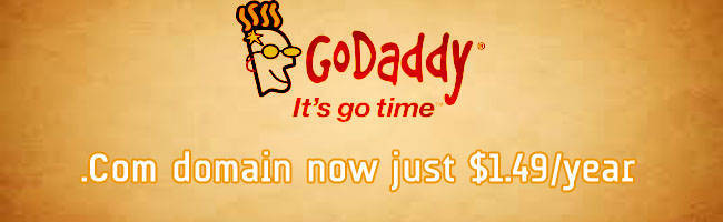 $1.49 .Com GoDaddy Coupon Codes in September 2018