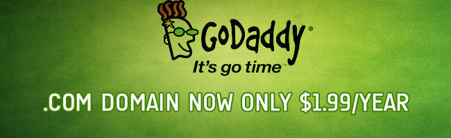 $1.99 .Com GoDaddy Promo Codes in February 2018