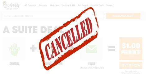 how to cancel godaddy account