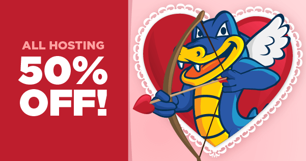 HostGator Valentine's Coupon and Mardi Gras Deal!