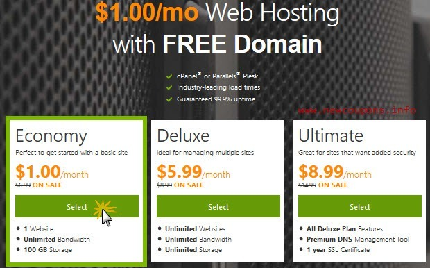 how to buy domain and hosting in godaddy