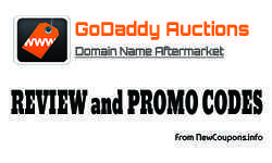 40% off Godaddy auction coupon in June 2017