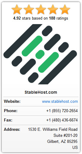 stablehost customer reviews and rating