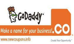 $2.99 GoDaddy .CO Domain Coupon in October 2017