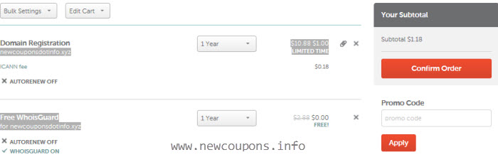 NameCheap Deals: .XYZ domain $1.00/y + Free WhoisGuard