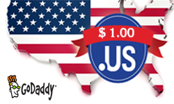 GoDaddy .US Deals: Now only $1.00/year