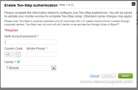GoDaddy Two Step Authentication