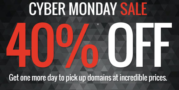 Domain.Com Cyber Monday Coupon: 40% off all domain.