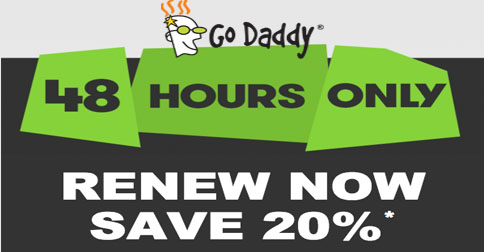 Go daddy discount coupon