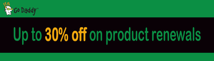 Discount coupons godaddy renewals