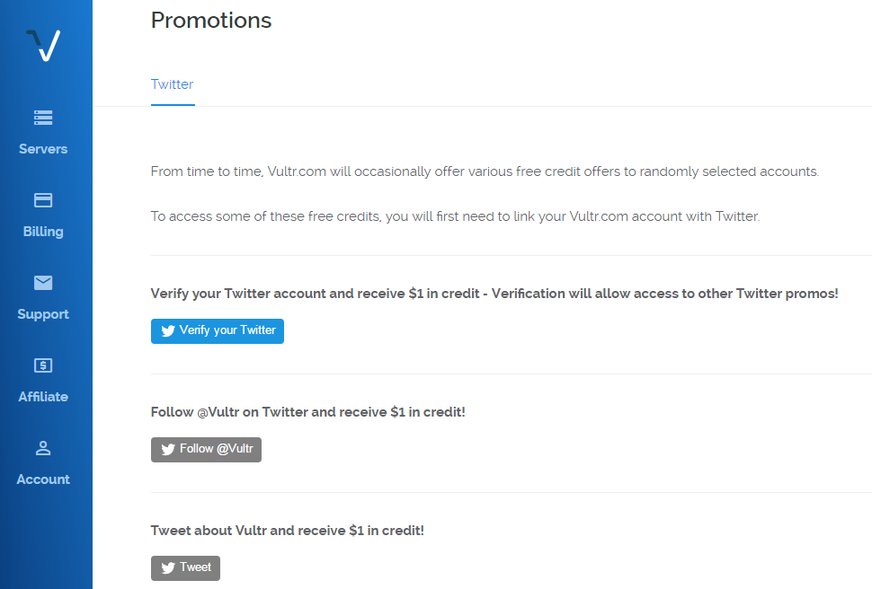 Vultr Coupon & Promo Codes May 2018: Free $25 Credit