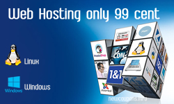 1&1 Web hosting starting at $0.99, Free domain