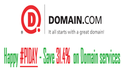 Happy PiDay, Domain.Com save 31.4% on Domain services.