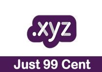 .XYZ domain only 99 cent at 1&1.Com