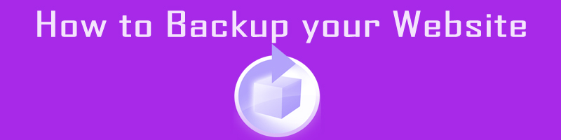 How to Backup your Website