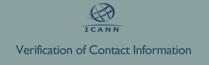 ICANN Verification of Contact Information