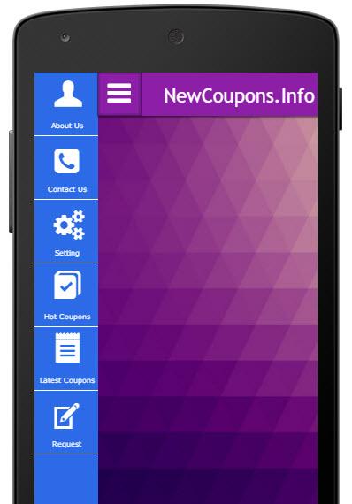 newcouponsdotinfo on mobile app
