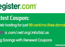 Register.Com Renewal Coupon & Promo Code October 2017
