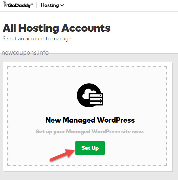 step 3 - setup and configure WordPress on GoDaddy WordPress Hosting
