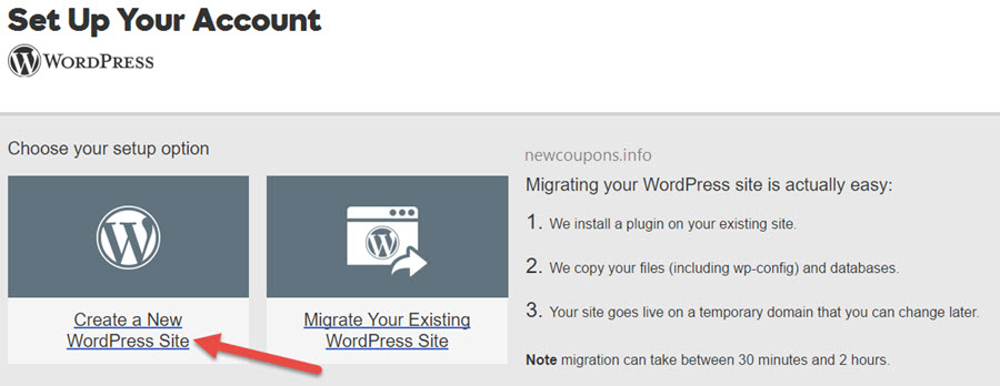 step 4 - setup and configure WordPress on GoDaddy WordPress Hosting