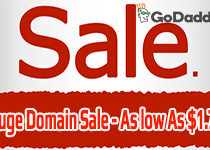 November Huge Domain Sale from GoDaddy – 2 Low Prices