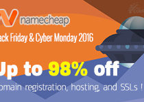 [Running] NameCheap Black Friday – Cyber Monday 2016 Deals !