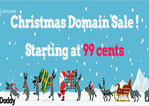 GoDaddy Christmas Offer: Register domains starting at $.99
