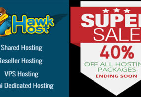 40% off latest HawkHost Coupon in May 2017