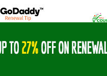 The Top Tip to get 27% off on Renewal at GoDaddy