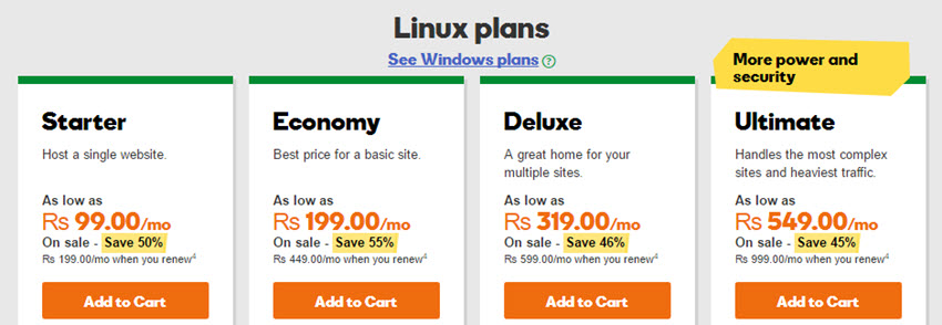 Godaddy India Coupons & Promos: Save up 70% off on VPS