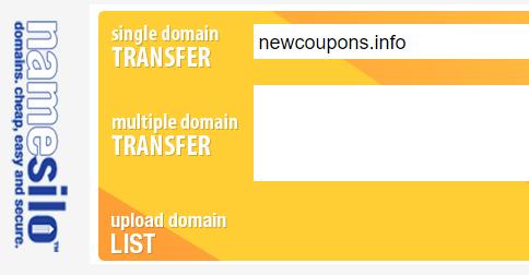 Namesilo transfer coupon code