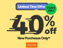 GoDaddy provide 40% off coupon for a limited time only!