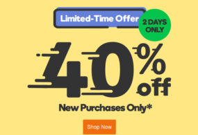 GoDaddy provide 40% off coupon for a limited time only !