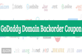 Godaddy Domain Backorder Coupon August 2017: Save 35%