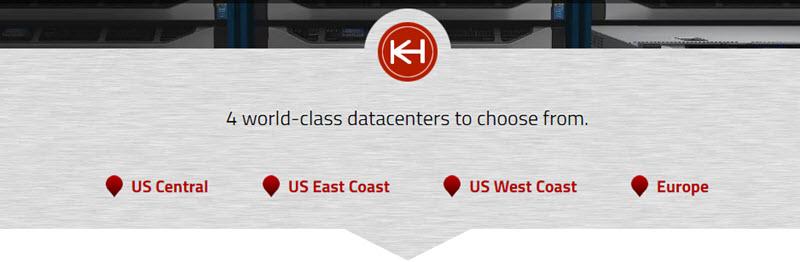 knownhost datacacenters & speedtest