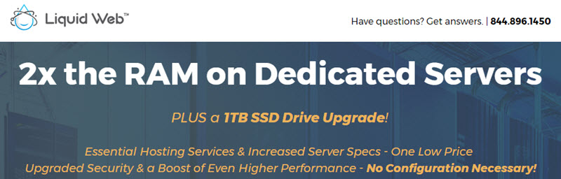 LiquidWeb: 2x RAM on Dedicated Servers, Price not Change