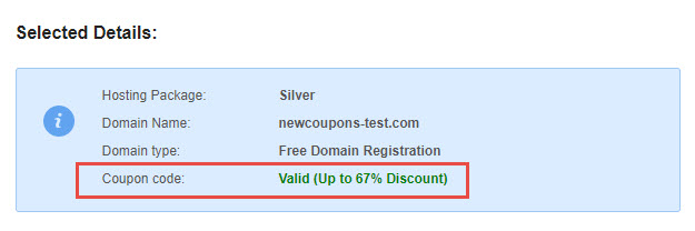 Use a hosting24 promo code - Step 3