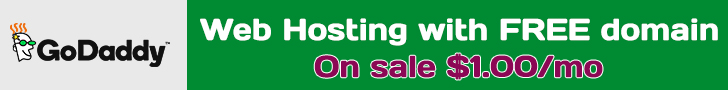 GoDaddy $1 hosting deal every month !