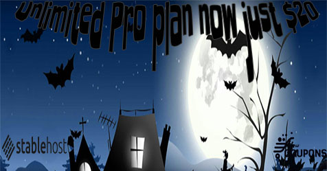 StableHost Halloween Sale! Up to 81% off Unlimited Pro plan