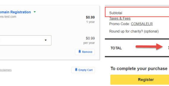Register .Com domain for only $0.99 from LuckyRegister