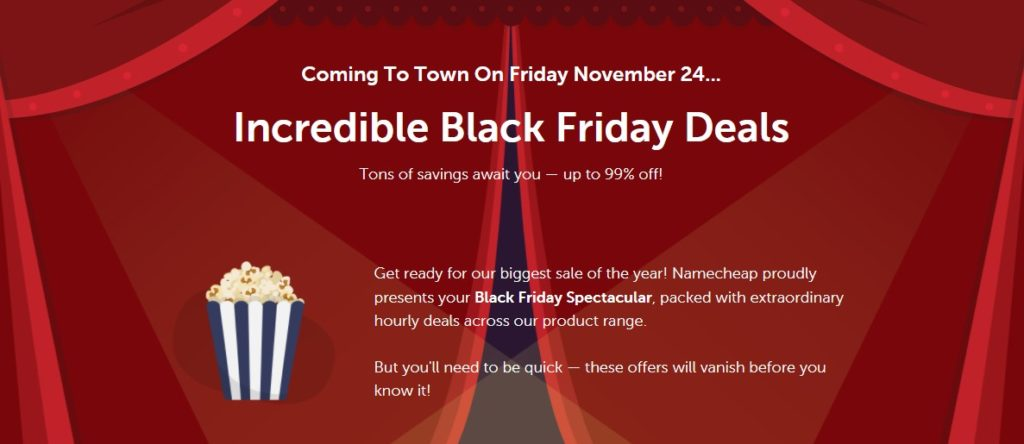 NameCheap Black Friday 2017 Deals - Up to 99% off New Domains