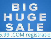 $5.99 .COM registrations, up to 10 domains – Name.Com