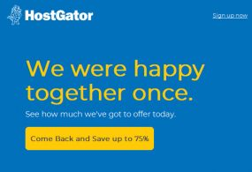 One Day Only – Save 75% All Web Hosting Plans From HostGator